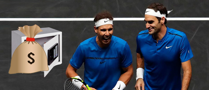 What is the difference between Federer and Nadal when it comes to making money?