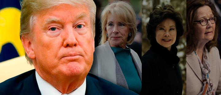 Trump y su escaso gabinete femenino