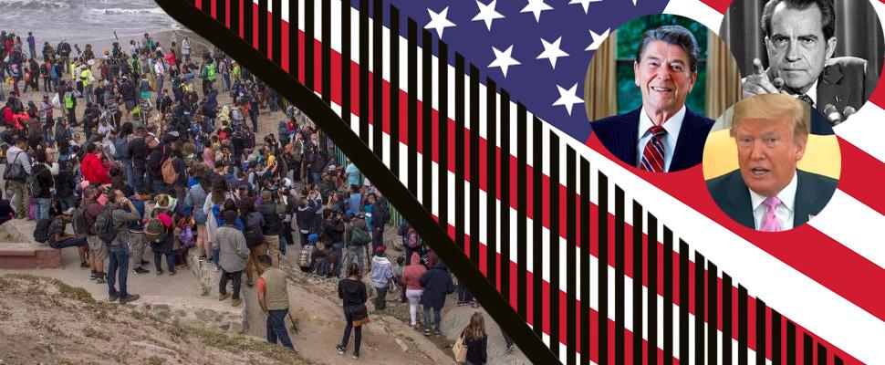 Cerrar la frontera: el objetivo de Nixon, Reagan y Trump