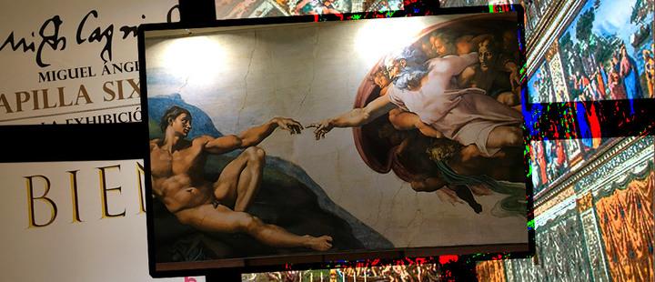 Miguel Ángel y la Capilla Sixtina ya están en Bogotá