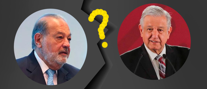 How good is the relationship between Carlos Slim and AMLO?