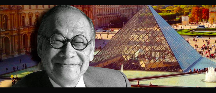 Ieoh Ming Pei: this was the architect behind the Louvre Pyramid