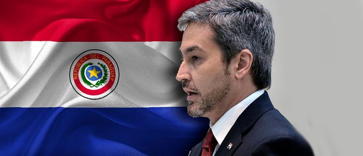 mario abdo - bandera paraguay