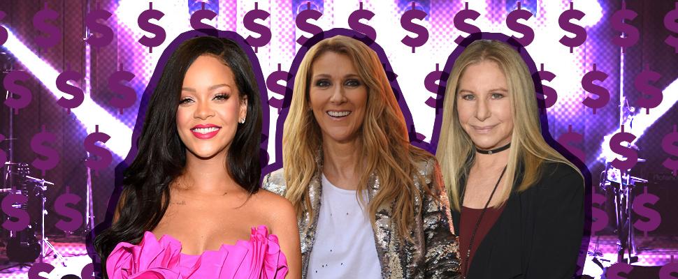 Las 5 cantantes más ricas de Estados Unidos