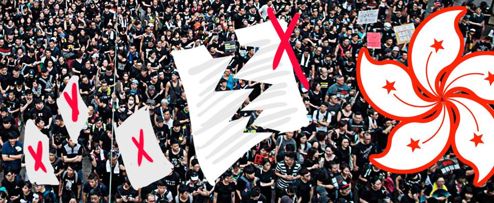 Manifestaciones en Hong Kong a favor de mantener su independencia política