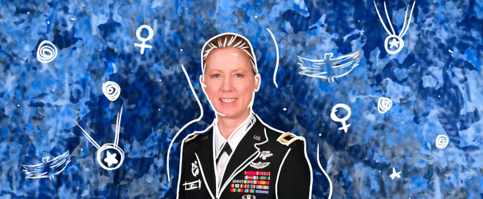Laura Yeager y las mujeres en el ejército
