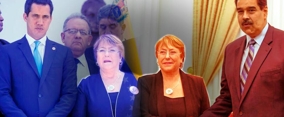 What left Michelle Bachelet's visit to Venezuela?