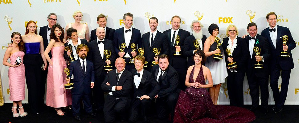 View of the cast of 'Game of Thrones'.