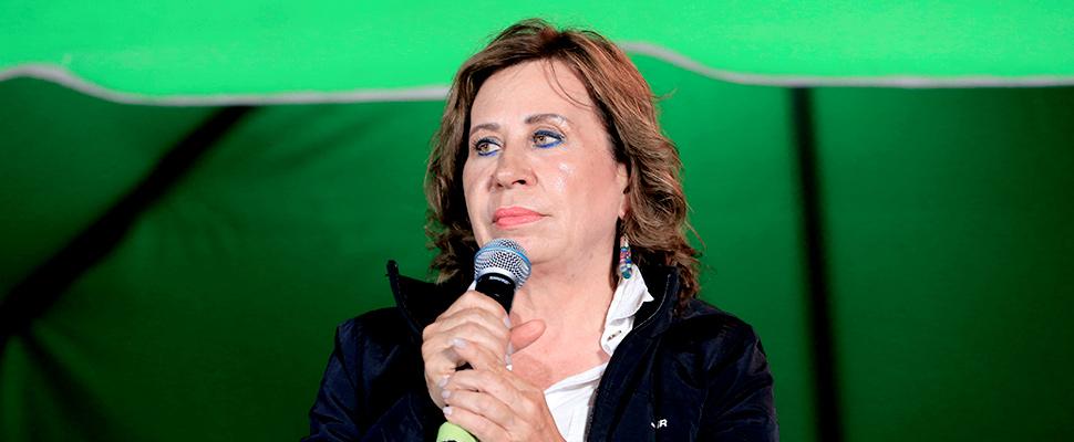 La candidata presidencial de Guatemala por el Partido Unión Nacional de la Esperanza, Sandra Torres.