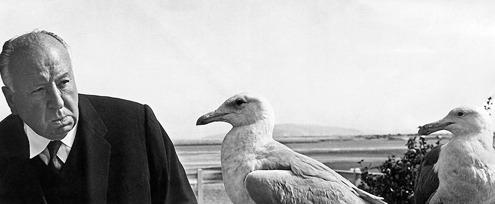 El director de cine británico Alfred Hitchcock