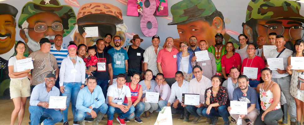 Graduation of participants and trainers from the workshop.
