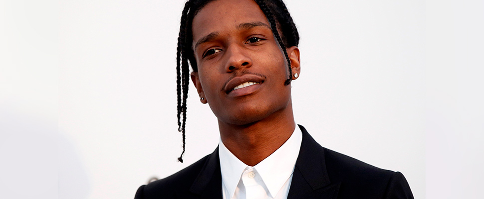 US rapper A$AP Rocky attends the Cinema Against AIDS amfAR gala 2017 held at the Hotel du Cap, in France.