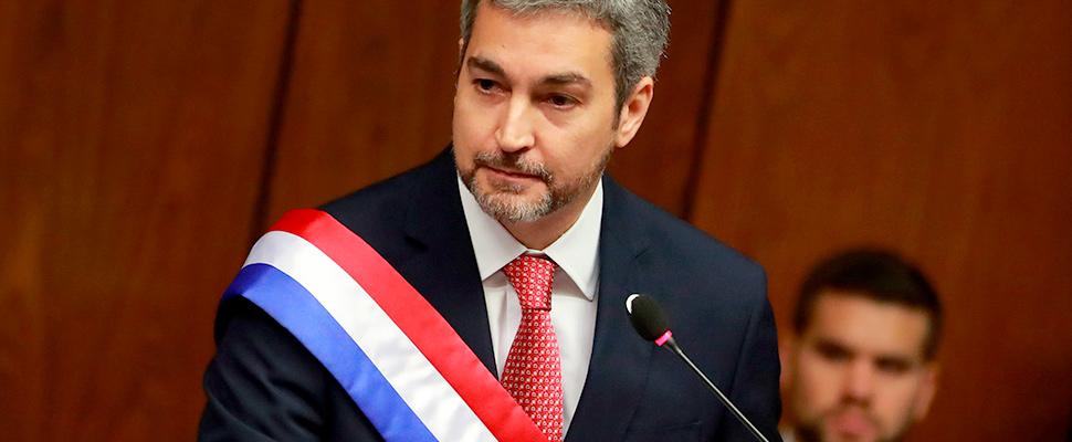 The president of Paraguay Mario Abdo Benítez.