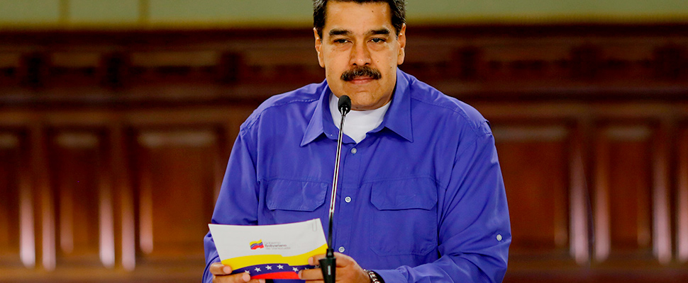 Venezuelan President Nicolás Maduro, taking part in an act of Government, August 14, 2019, in Caracas.