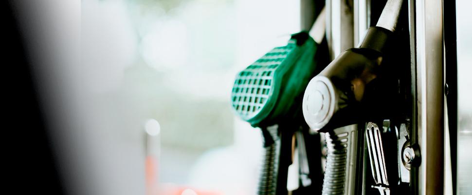 Fotografía de un dispensador de gasolina