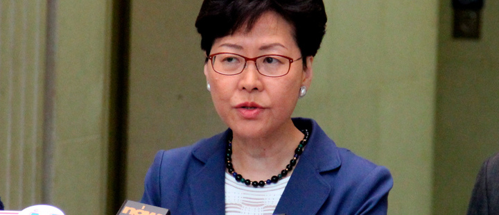 Hong Kong leader says dialogue and 'mutual respect' offer way out of chaos
