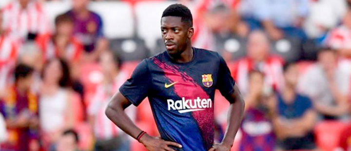 Dembélé will be off for five weeks after a muscle injury