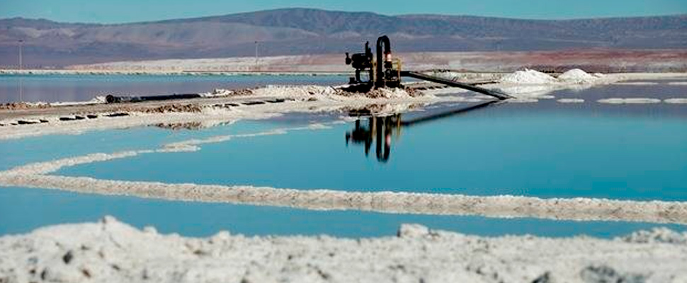 Exploitation of the land in the Salar de Atacama in Chile