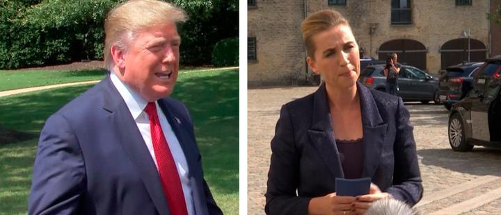 President of Unite States, Donald Trump (L) and Danish Prime Minister, Mette Frederiksen (R)