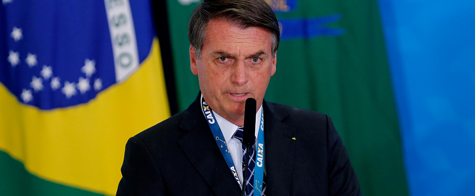 Brazilian President Jair Bolsonaro speaks during the launching ceremony of the real estate credit program