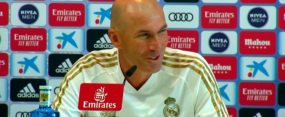 Real Madrid manager Zinedine Zidane's during press conference