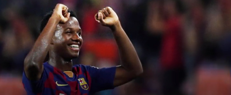 Ansu Fati, en un juego del FC Barcelona