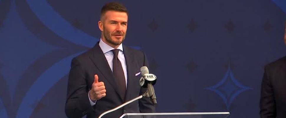 David Beckham during an event