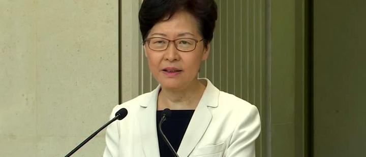 La violencia en Hong Kong se agrava, pero el gobierno tiene el control: Lam
