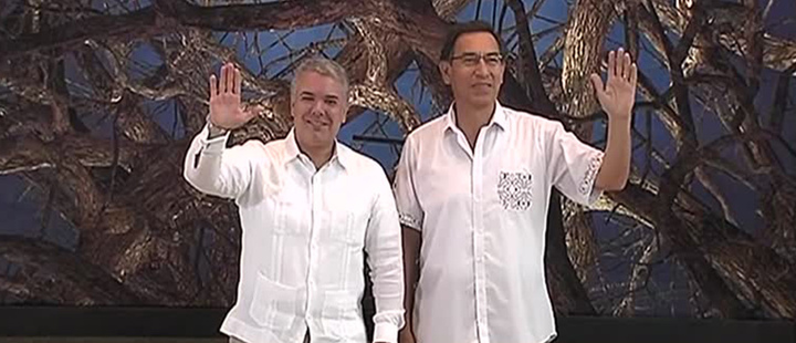 President of Colombia, Ivan Duque and President of Peru, Martín Vizcarra