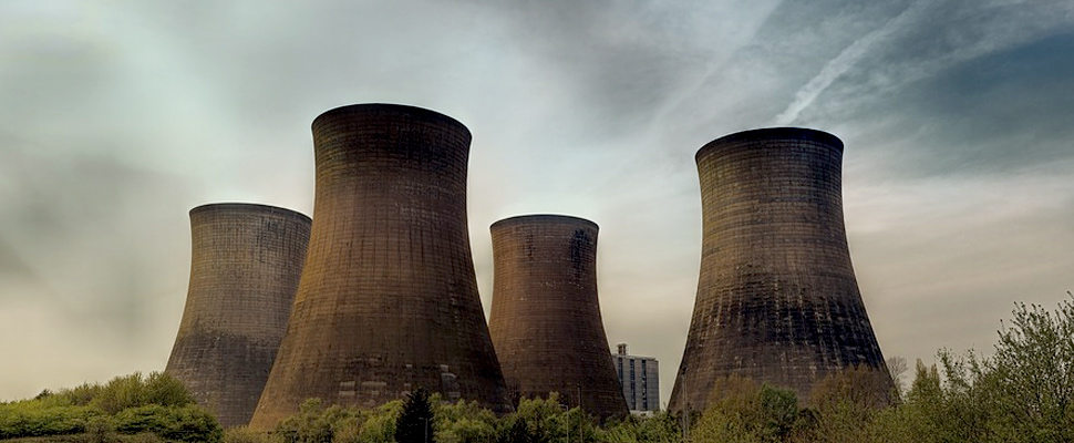 Cooling towers pf a nuclear plant