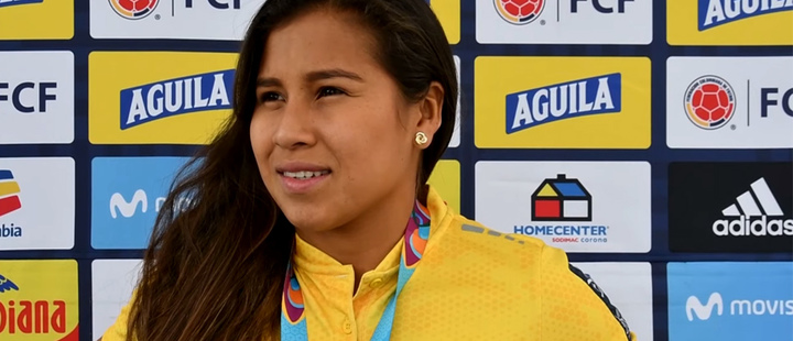 Leicy Santos, striker of the Colombia Women's Seniors National Team