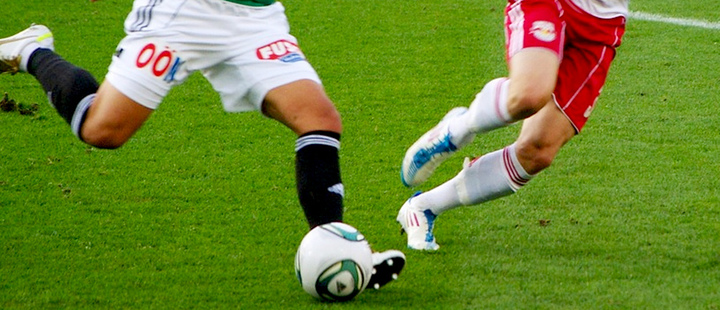 Soccer players during a match