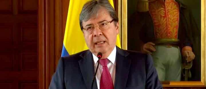 Colombian Foreign Minister Carlos Holmes Trujillo.