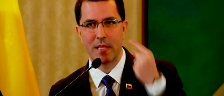 The Foreign Minister of Venezuela, Jorge Arreaza