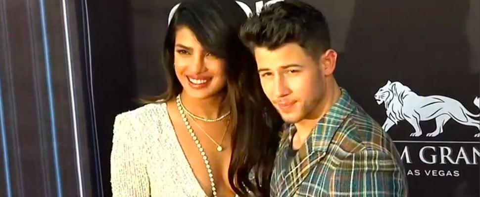 Actress Priyanka Chopra with her husband, singer Nick Jonas at the Billboard Music Awards