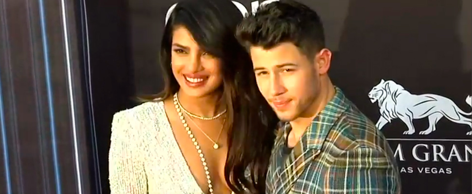 Actress Priyanka Chopra with her husband, singer Nick Jonas at the Billboard Music Awards