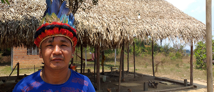 view of Deusdimar Tenharim, vice-chief of the Pakyri indigenous tribe that lives in Tenharim Territory, Amazonas, Brazil