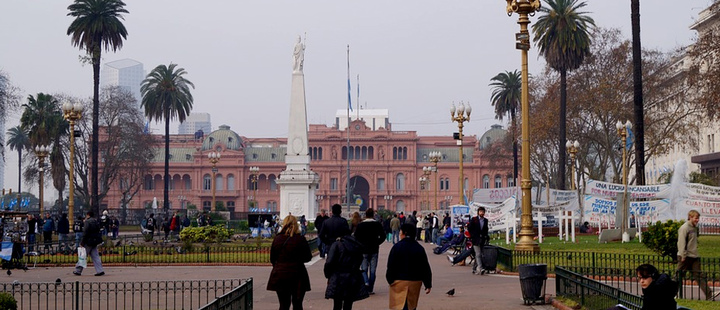 View of the Casa Rosada in Buenos Aires, Argentina