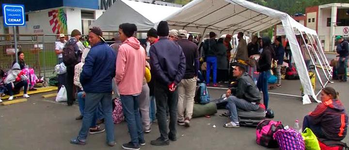 Group of Venezuelan migrants.