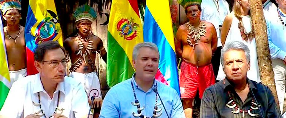 Iván Duque de Colombia, Lenín Moreno de Ecuador y Martín Vizcarra de Perú