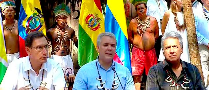 Líderes de países de la Amazonía se unen para proteger la selva