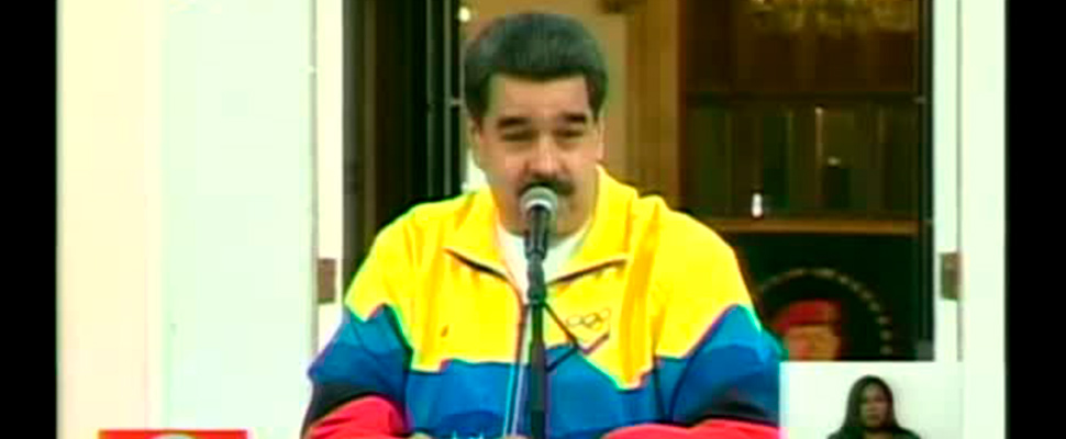 Presidente de Venezuela, Nicolás Maduro, durante una transmisión televisada.