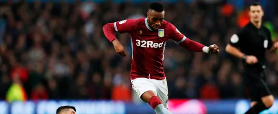Aston Villa's player, Jonathan Kodjia.