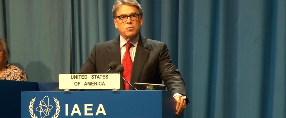 Rick Perry, secretario de Energía de Estados Unidos.