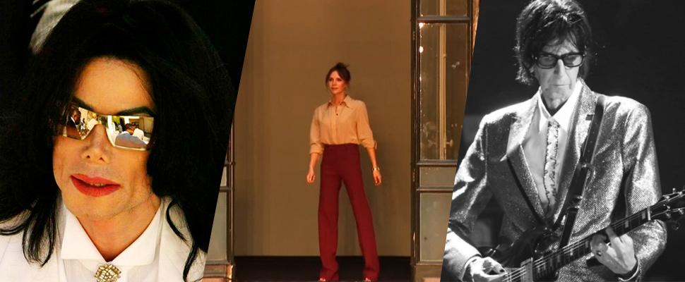 Michael Jackson, Victoria Beckham and Ric Ocasek.