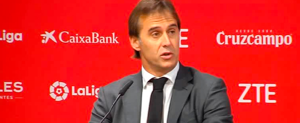Julen Lopetegui during press conference.