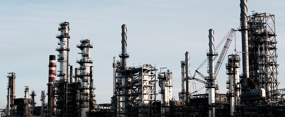Refinería de petróleo.