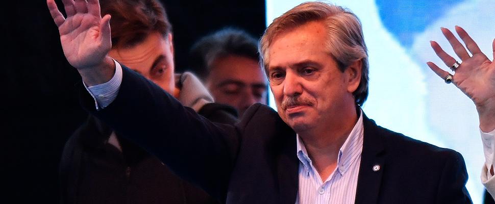El candidato peronista Alberto Fernández