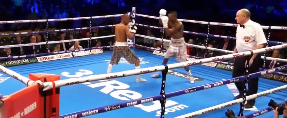 Zolani Tete knockout to his rival, Siboniso Gonya.
