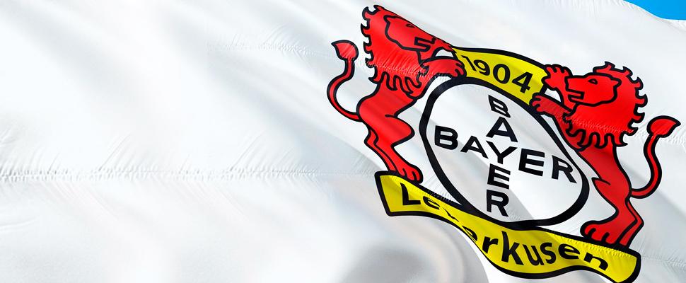 Bandera del Bayern Leverkusen.